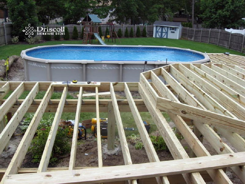 pool deck framing plans pt pleasant deck builder
